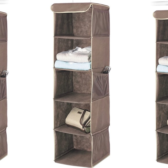 Whitmor Hanging Accessory Shelves Java, New